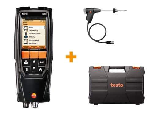 Set testo 320 basic - Abgasmessung an Öl- und Gasanlagen