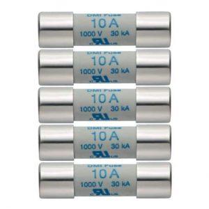 5er Set Ersatzsicherungen 10A/1000V