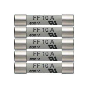 5er Set Ersatzsicherungen 10A/600V