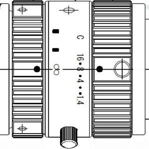 FLIR 35mm Objektiv, 0.9-1.7µm, f/1.4, c-mount (A62XX SWIR)