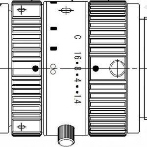 FLIR 25mm Objektiv, 0.9-1.7µm, f/1.4, c-mount (A62XX SWIR)