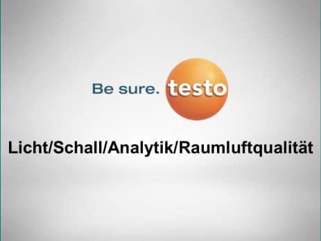 Licht/Schall/Analytik/Raumluftqualität