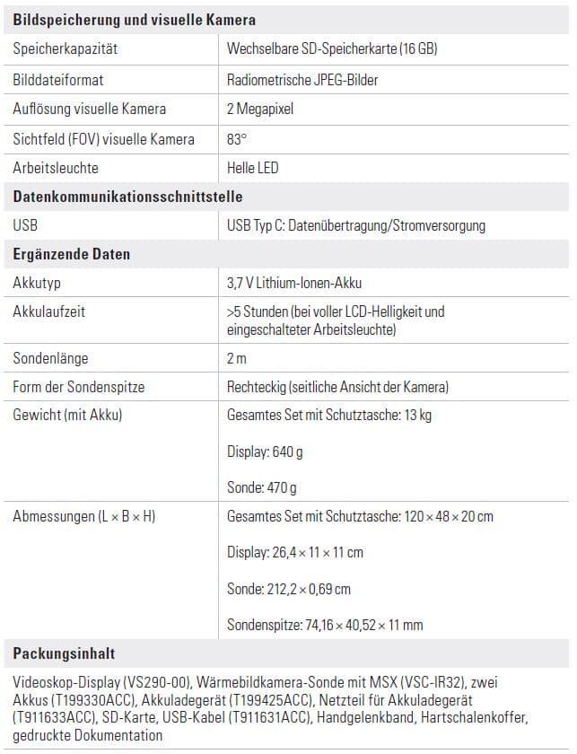 FLIR Infrarot Videoskop VS290-32